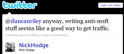 Twitter / Nick Hodge: @duncanriley anyway, writi ...