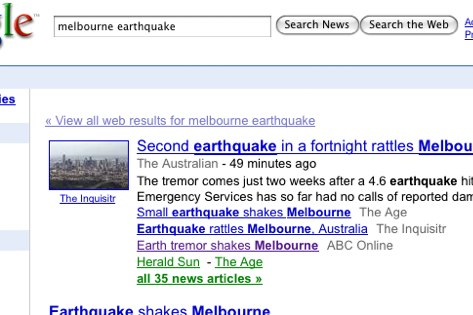 melbourne earthquake - Google News