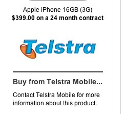 Telstra Mobile $30 'Phone' Plan Mobile Phone Plan   Apple iPhone 16GB (3G) - The Age