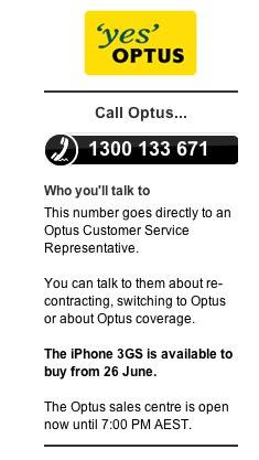 Optus $59 iPhone Cap Mobile Phone Plan   Apple iPhone 16GB (3G) - The Age