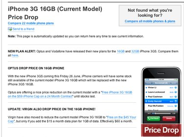 iPhone 3G 16GB (Current Model) Price Drop - The Age